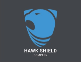 Projekt logo Hawk shield logo