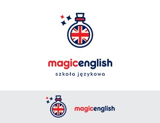 Projekt graficzny logo Magic English