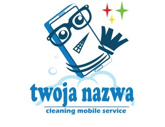 Projekt graficzny logo cleaning mobile service