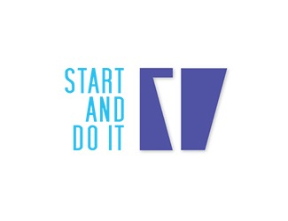Projekt graficzny logo Start and do it