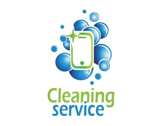 Projekt graficzny logo cleaning mobile service 2