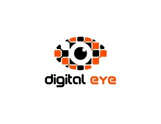 Projekt graficzny logo digital eye