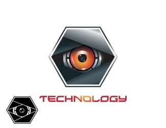 Projekt graficzny logo technology eye