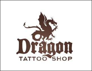 Projekt graficzny logo Dragon tattoo