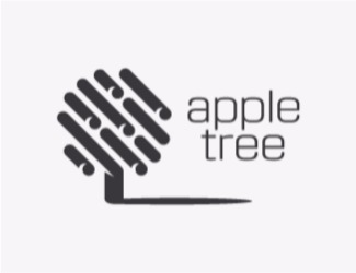 Projekt graficzny logo apple tree