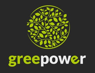 Projekt graficzny logo green power