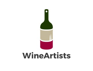 Projekt graficzny logo Wine Artists