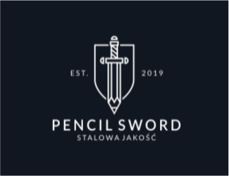 Projekt graficzny logo Pencil Sword