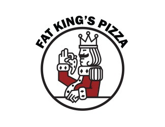 Projekt graficzny logo FAT KING'S PIZZA