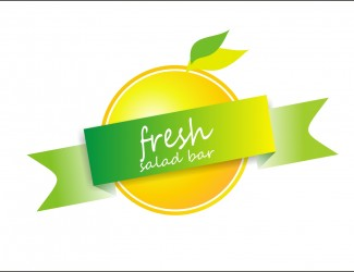 Projekt graficzny logo fit salad bar