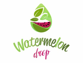 Projekt graficzny logo watermelon drop