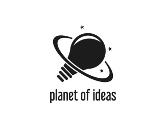 Projekt graficzny logo  planet of ideas