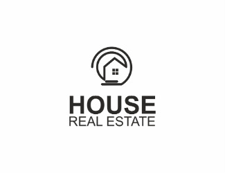 Projekt graficzny logo house real estate