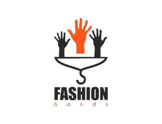 Projekt graficzny logo fashion hands