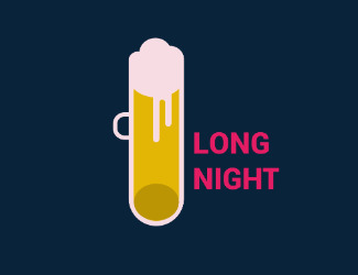 Long Night - bar/club/pub - projektowanie logo