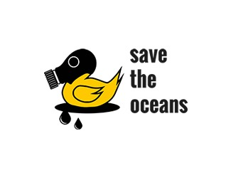 Projekt graficzny logo save the oceans
