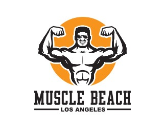 Projekt graficzny logo MUSCLE BEACH GYM