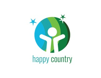 Projekt graficzny logo happy country