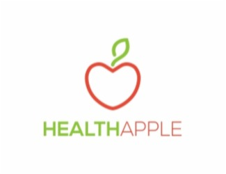 Projekt graficzny logo Health Apple