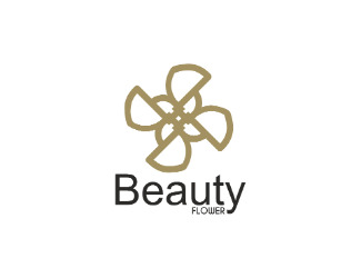 Projekt graficzny logo Beauty flower