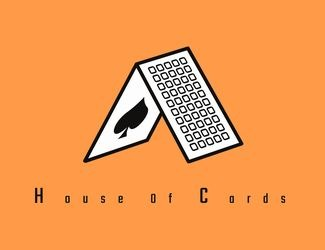 Projekt graficzny logo HOUSE OF CARDS