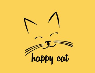 Projekt logo HAPPY CAT