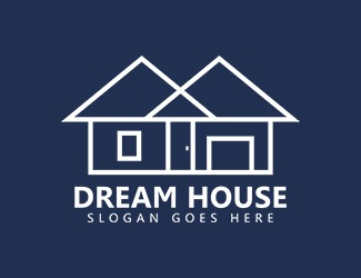 Projekt graficzny logo Dream House