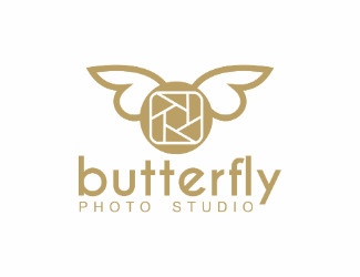 Projekt graficzny logo butterfly photo studio