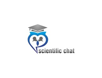 Projekt graficzny logo scientific chat