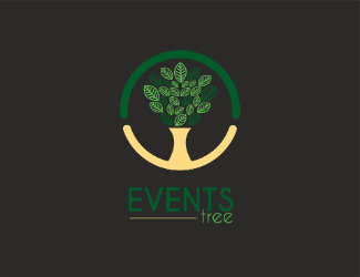 Projekt graficzny logo events tree